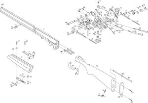 Ружье охотничье двуствольное ИЖ-27М взрыв-схема